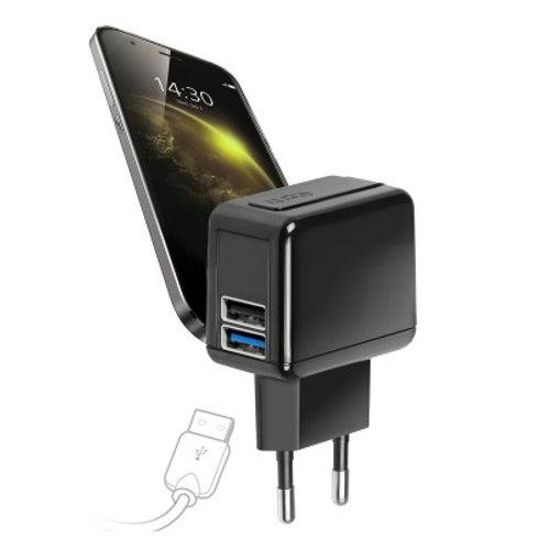SBS Caricabatteria da viaggio 2400 mAh con 2 uscita USB