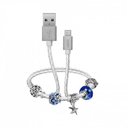 Cavo dati e ricarica USB-Micro USB con charm