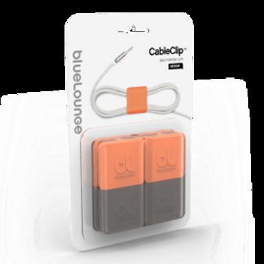 BLUELOUNGE  - CableClip Medium, Dark Grey & Orange