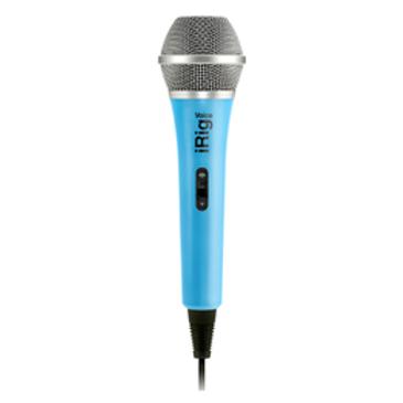 IK Multimedia iRig Voice Microfono analogico portatile per iOS & Android blu