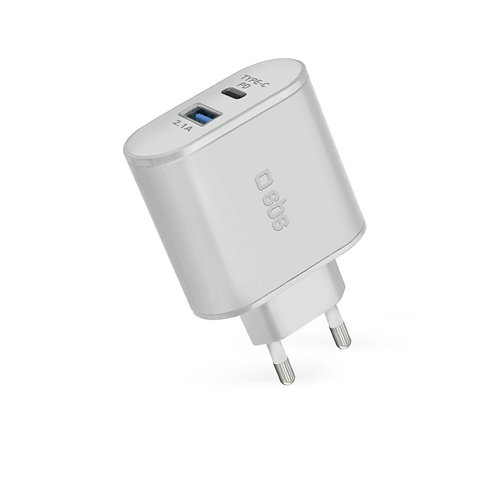 SBS Caricabatterie da viaggio USB – Type-C PD 30W