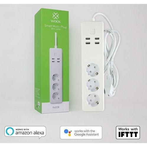 Multipresa Intelligente 3 Prese Schuko 4 USB Controllo Vocale