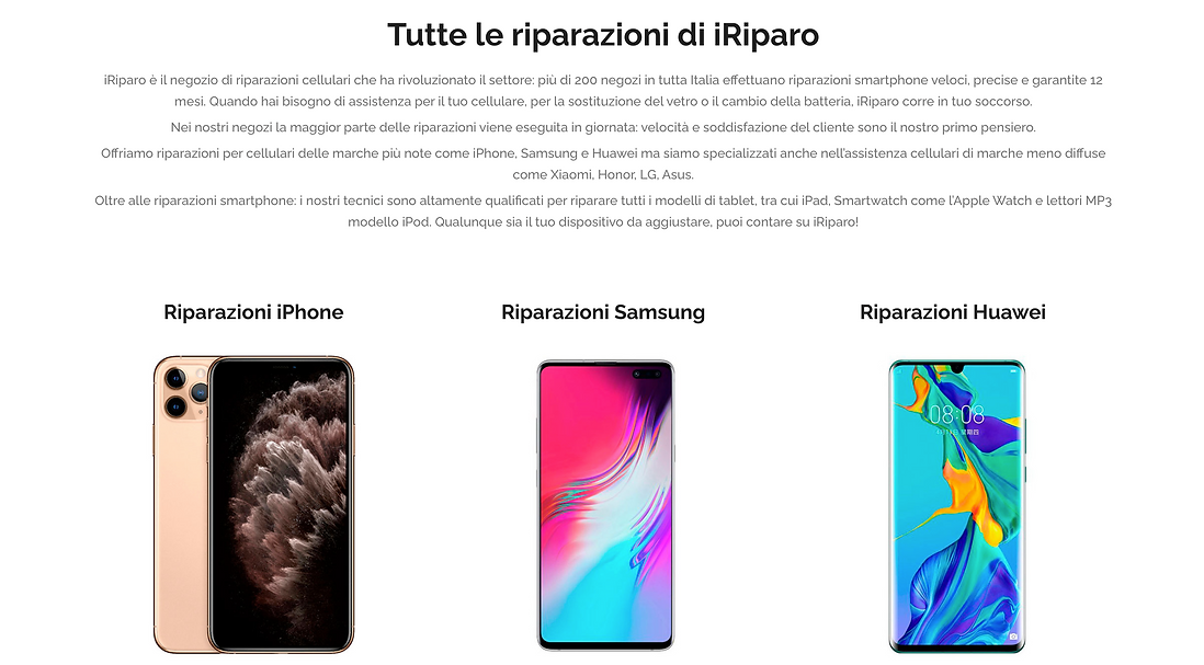 Riparazioni iPhone, iPad, Smartphone e Tablet