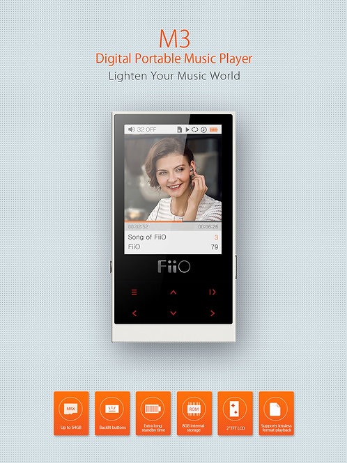 FiiO M3 Digital Audio Player Lettore 24bit