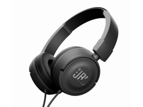JBL T450 Black Cuffie Ad Archetto Con Comando Microfono