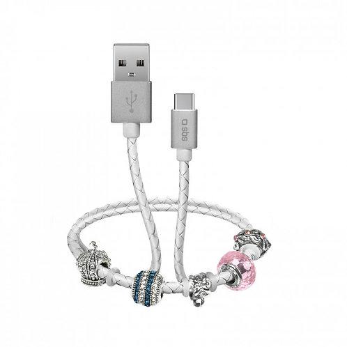 Cavo dati e ricarica USB-Type C con charm