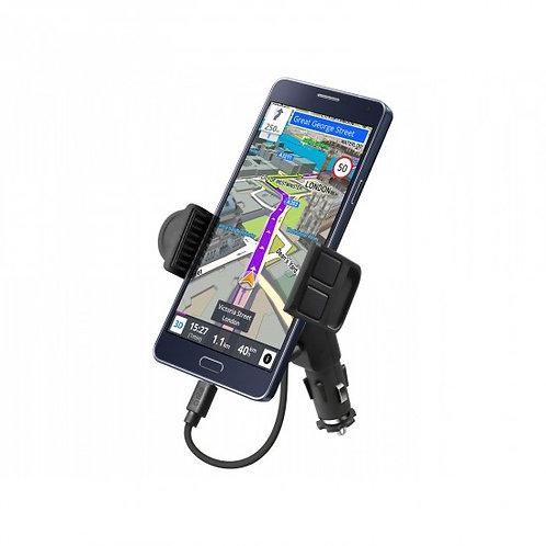 SBS Supporto da auto con porta USB per smartphone fino a 5,5''