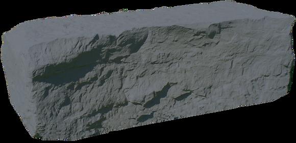 Grey Armor Stone Half Rock