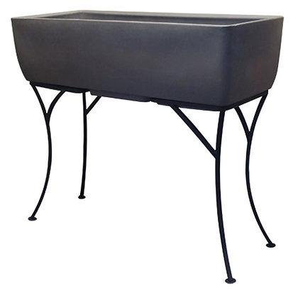 """36"""" x 15"""" Rectangular Planter with Stand"""