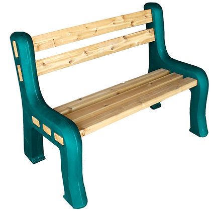 Traditional Bench Ends With Backrest