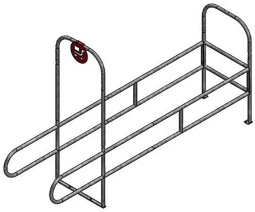 Single Wide Standard Cart Corrals