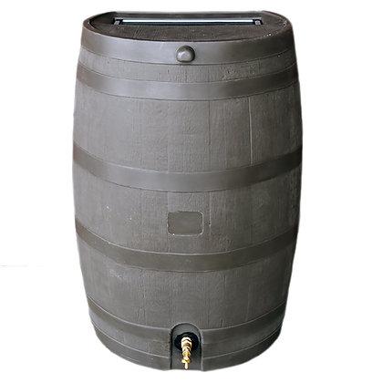 Flat Back Rain Barrel - Walnut