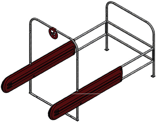 Double Wide Standard Cart Corrals with Guards