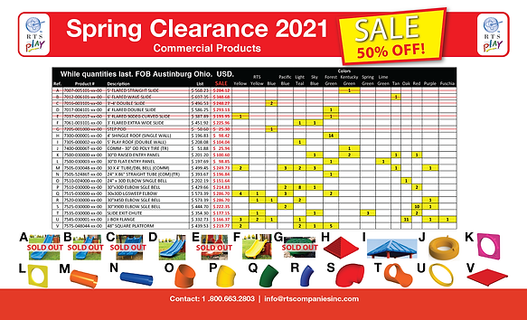 Spring Clear Out Stock Sale - Commercial