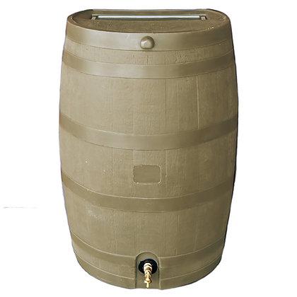Flat Back Rain Barrel - Oak