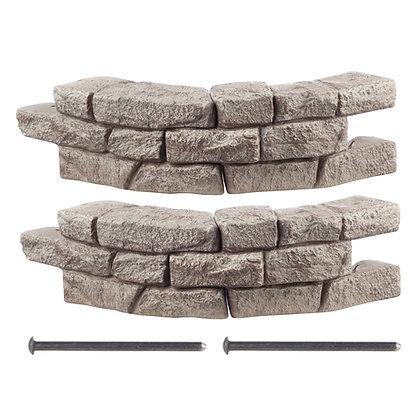 Rock Lock Raised Garden Bed - Curved Rock