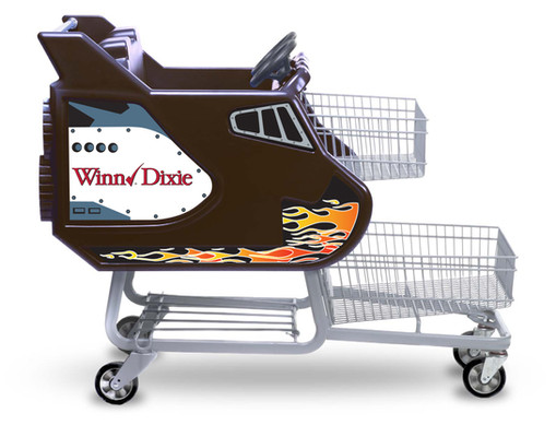 Winn Dixie Black Shuttle with Flame Grap