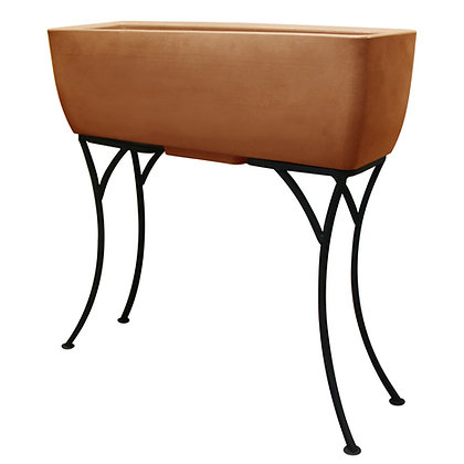 """30"""" x 10"""" Rectangular Planter with Stand"""