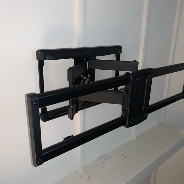 Full Motion Mount Above Fireplace
