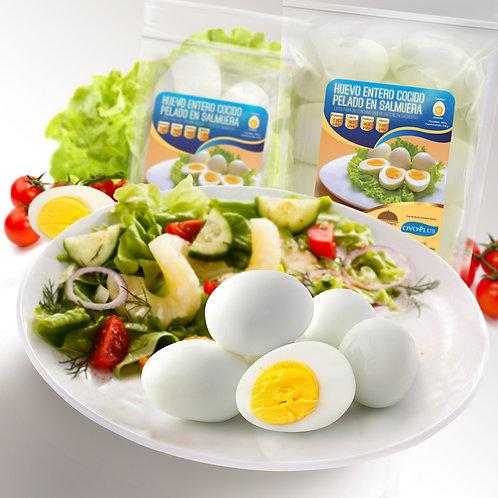 Huevo Cocido Pelado en Salmuera 12 Unidades