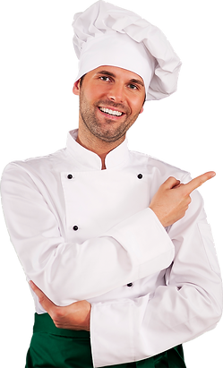 handsome-chef-showing-menu Calado Chico.