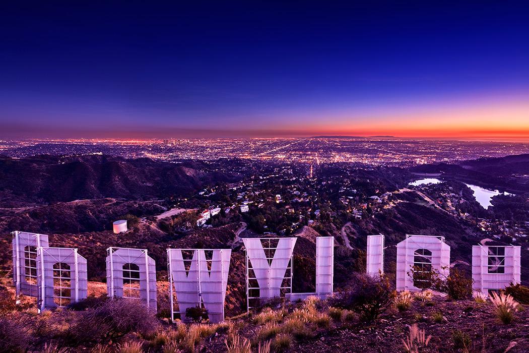 Hollywood sign behind