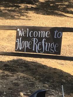 Hope Refuge sign