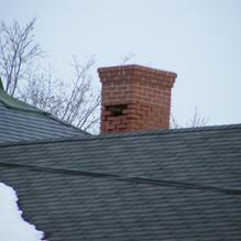 southwest corner of chimney zoomed in