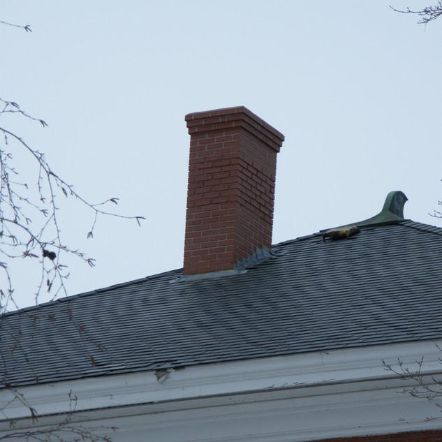 Northeast corner of chimney