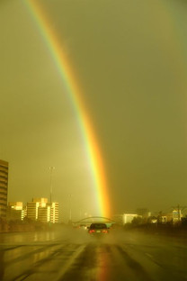 Hit by rainbow