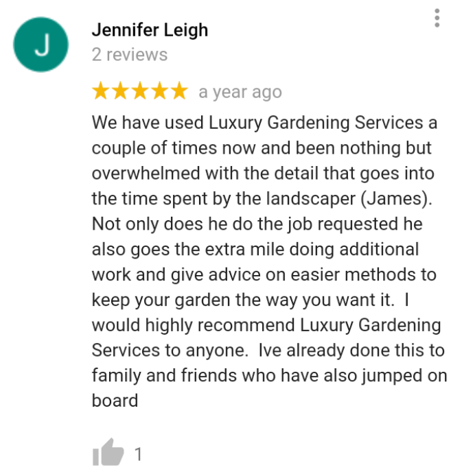 Garden maintenance review