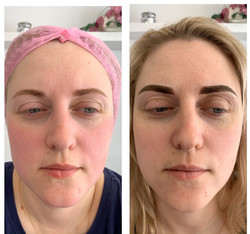 Old permanent makeup coverage