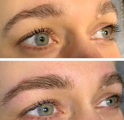 Brow shaping and tint by Elena