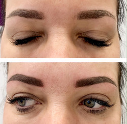 Brows retouch