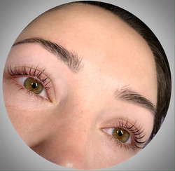 Lash lift and powder brows by Elena