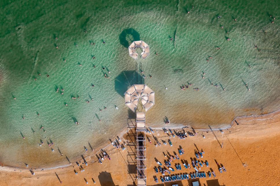 Dead Sea Beach Umbrellas #4