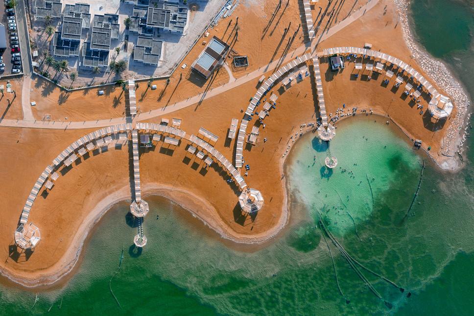 Dead Sea Beach Umbrellas #1