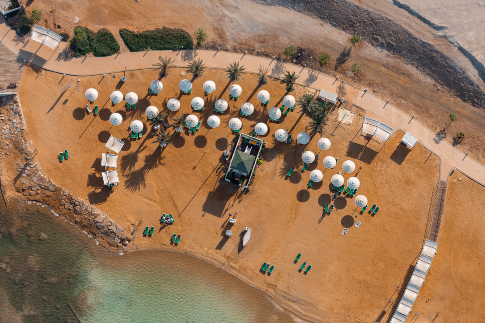 Dead Sea Beach Umbrellas #2
