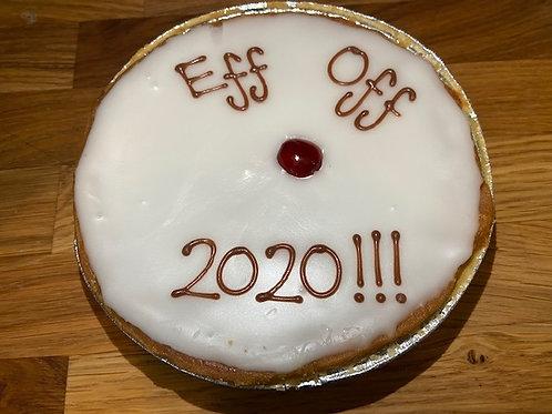 """Eff Off 2020"" Iced Cherry Bakewell Tart"