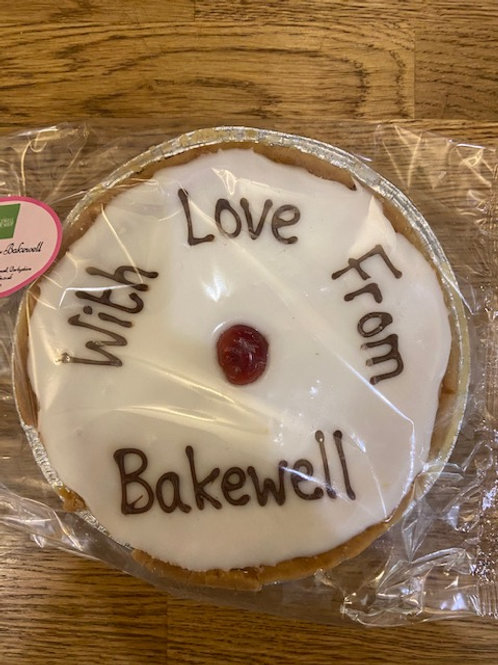 """With Love From Bakewell"" Iced Cherry Bakewell Tart"