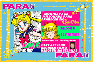 #MOONIE ¡PAGAN MILLONADA POR APARECER EN SAILOR MOON!