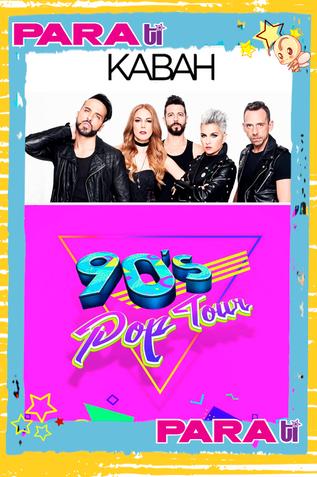 "¡WOW! KABAH SE INTEGRA AL ""90´S POP TOUR"" EN OTOÑO"