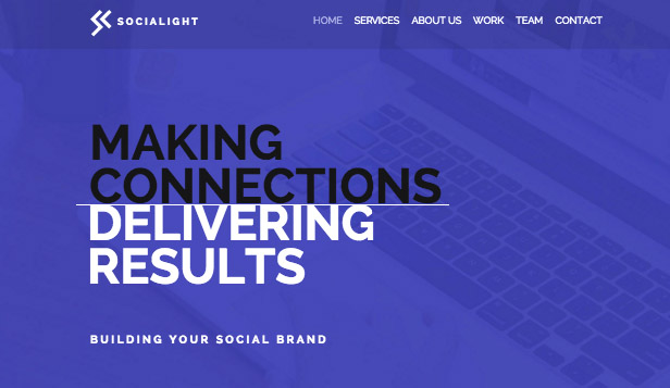Business website templates – Social Media Agency