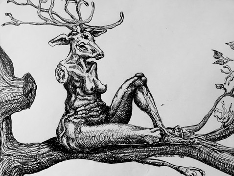 Stag woman.