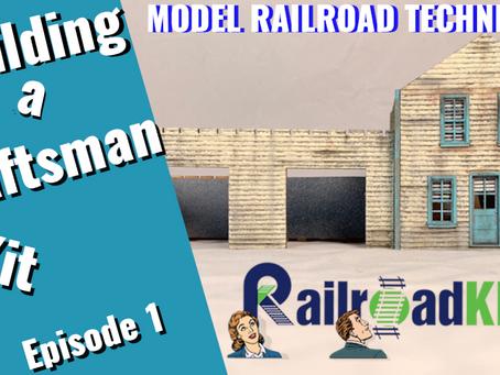 Building a Craftsman Railroad Kit. Realistic Paint Job. Episode 1