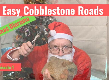 How to make EASY Cobblestone Roads.  Christmas Market Diorama Episode 1.