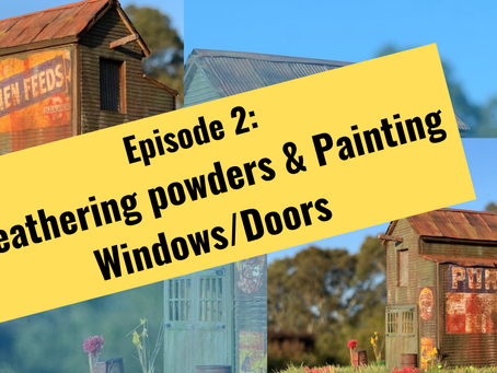 Weathering and Painting Windows/Doors on a Craftsman Kits. Episode 2.