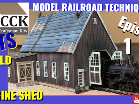 LETS BUILD AN ENGINE SHED-Pine Valley by Carolina Craftsman Kit-Painting and Weathering- Episode 1