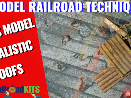 Lets Model Realistic Roofs-Railroad Kit Series-Episode 2