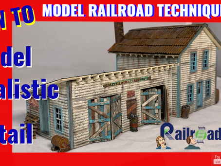 Railroad Kit Series Episode 3. How to model realistic detail. All you need to know.